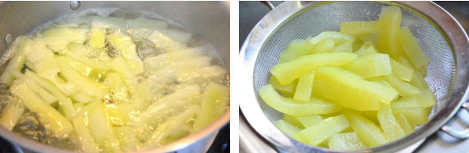 pickled watermelon rind boiled