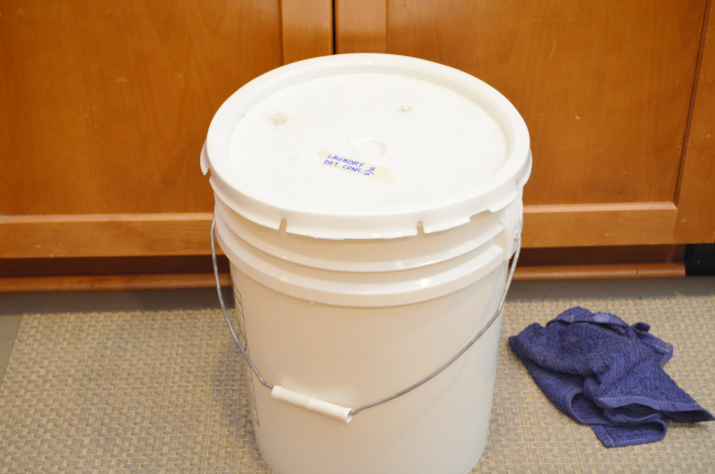homemade laundry detergent for storage
