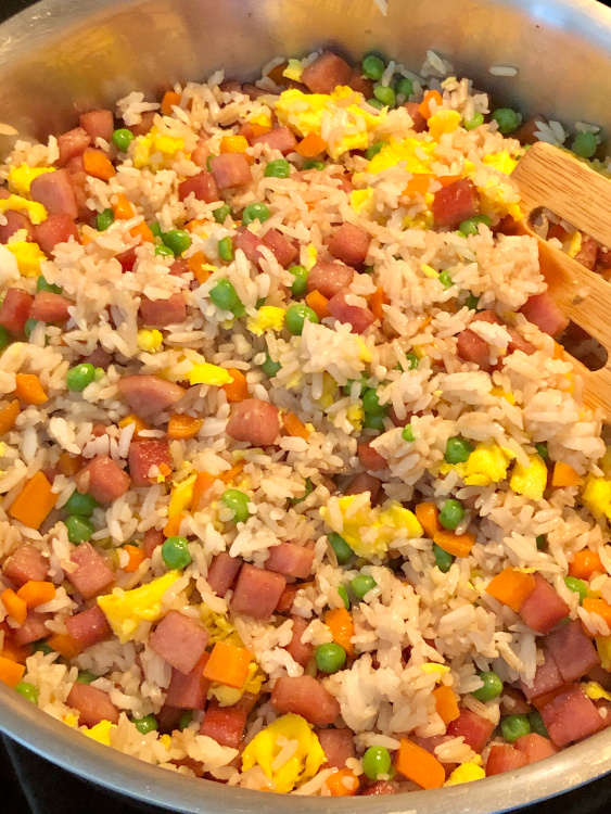 mixed spam egg fried rice