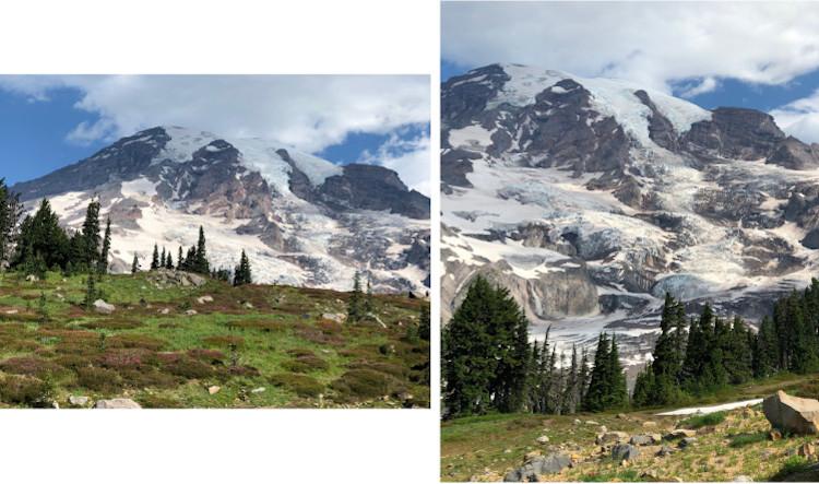 nisqually glacier along trail view