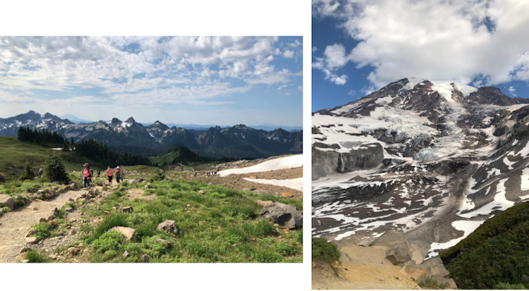 panorama and glacier