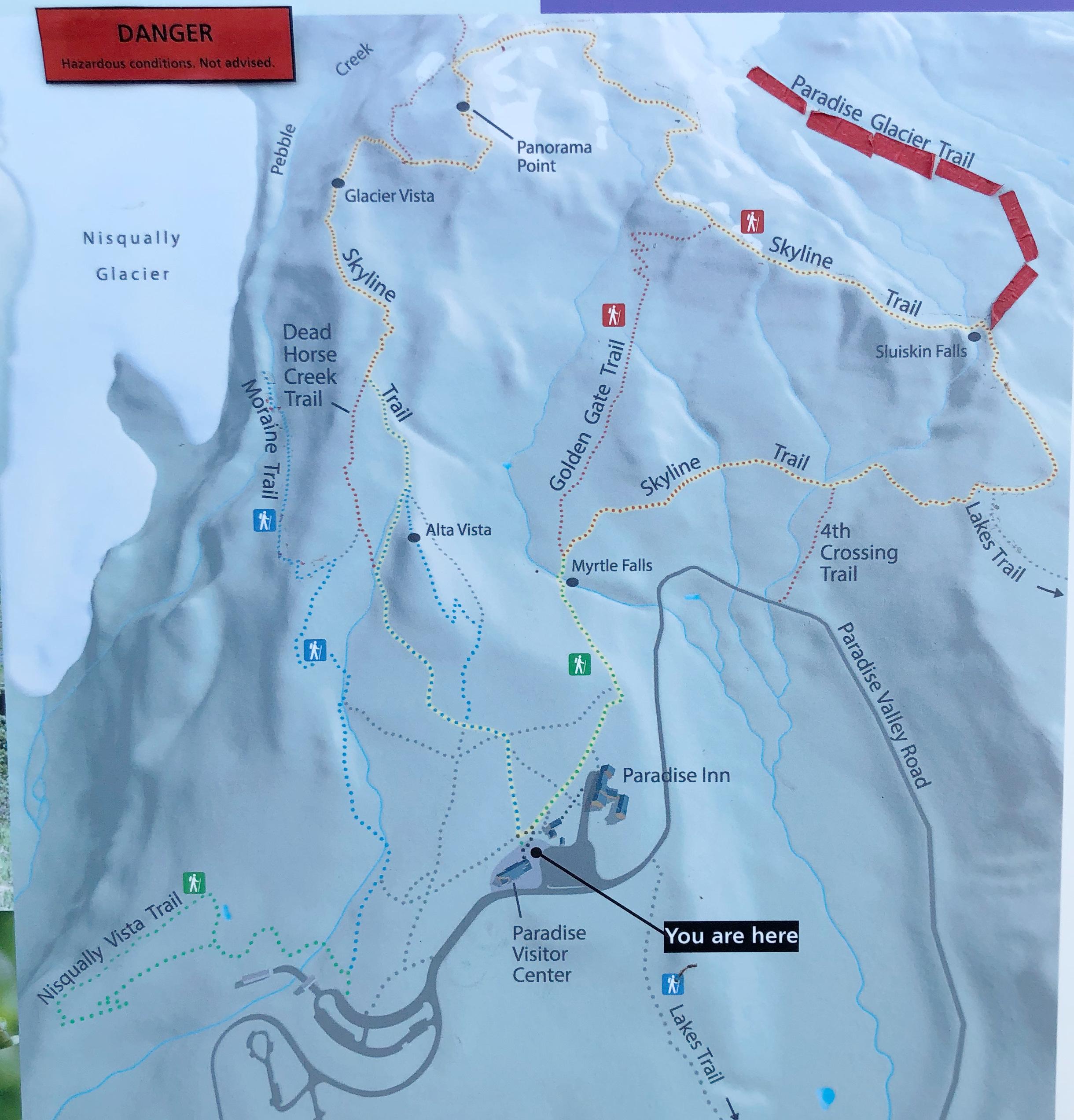 skyline trail loop map