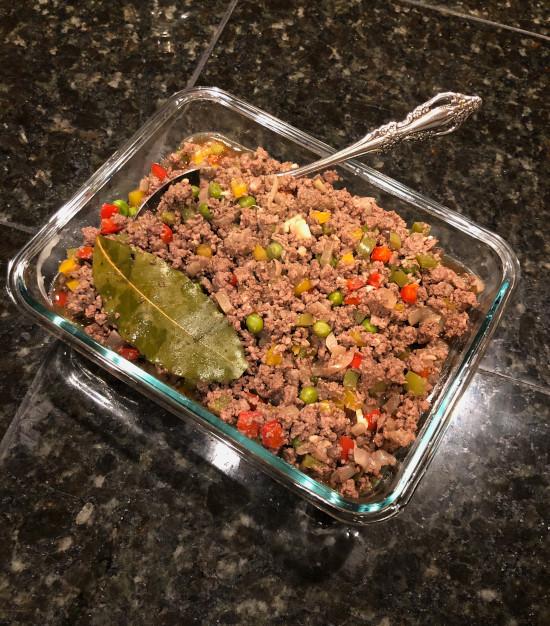 filipino beef picadillo giniling
