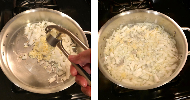 sauteing garlic and onions